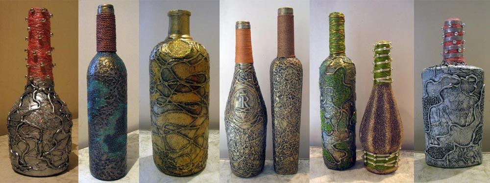 Красим бутылки своими руками
